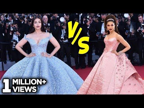 Aishwarya Rai Cinderella Gown VS Deepika Padukone Barbie Doll Look | Fashion Face-Off