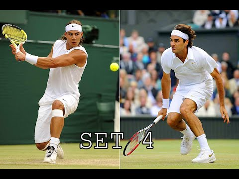 Roger Federer vs. Rafael Nadal - Wimbledon 2008 [set 4]