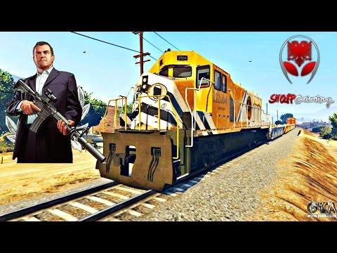 GTA 5 SHQIP - Me Kamiona neper Mal + Lufte prej Treni !! - SHQIPGaming