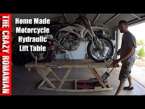 Harbor Freight WOOD REPLICA Hydraulic motorcycle Lift Work table Home-Made
