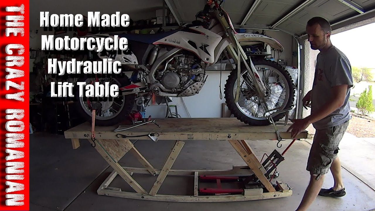 Harbor Freight Wood Replica Hydraulic Motorcycle Lift Work