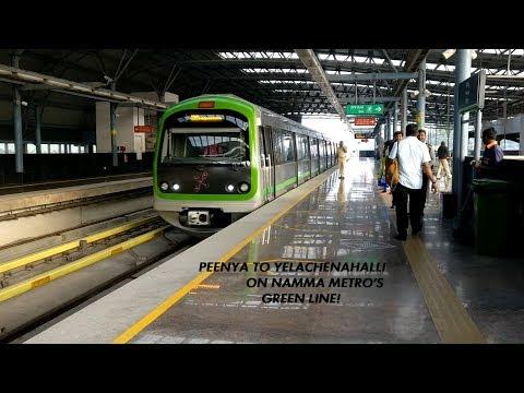 Bangalore Metro - Complete Green Line - Peenya to Yelachenahalli!