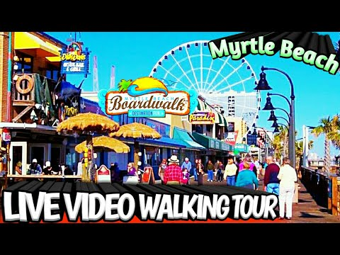 WALKING TOUR BOARDWALK Downtown MYRTLE BEACH Ocean Boulevard SC