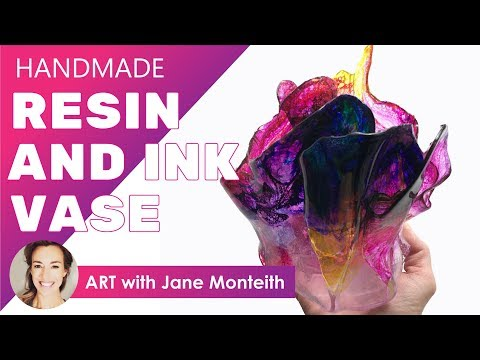Resin and Alcohol Ink Handmade Vase