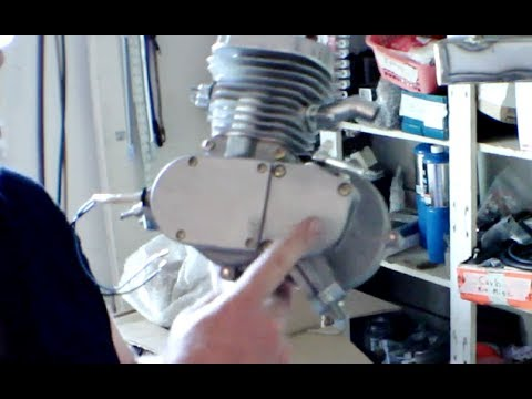 How To Build Motorized Bicycle Part 1 - unboxing 2 stroke motor kit
