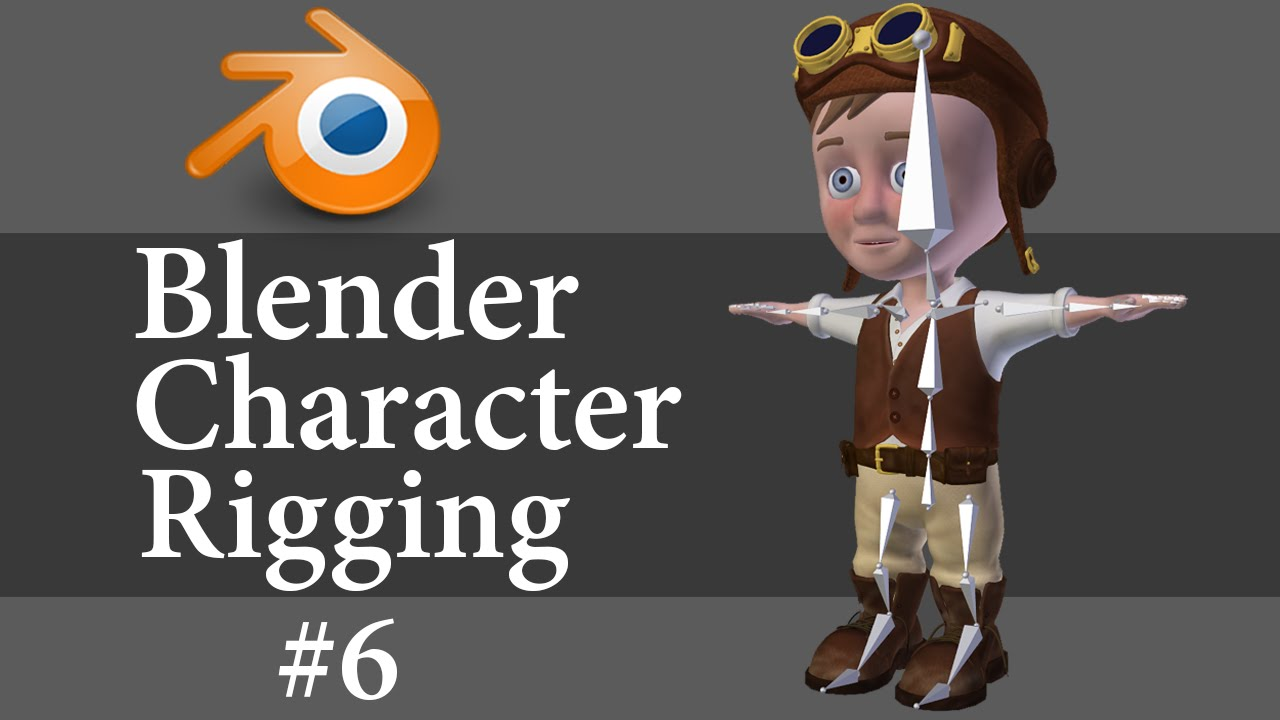 Blender Character Modeling 10 Of 10 : Blender character rigging of youtube