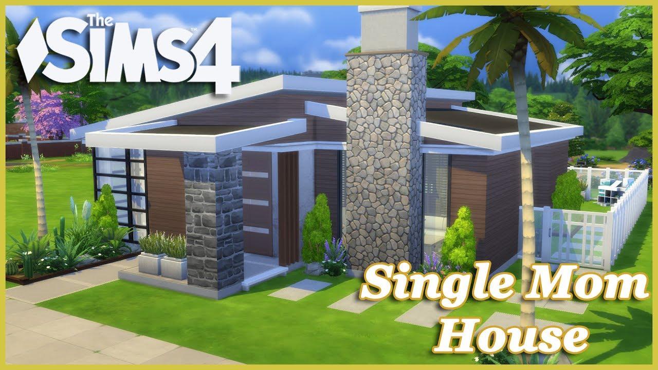 The sims 4 modern single mom house house build youtube for Big modern house sims 4