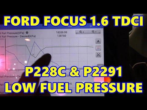 Ford Focus 1 6 TDCI P228C & P2291 Low Fuel Pressure - Limp Mode
