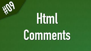 Learn Html in Arabic #09 - Comments