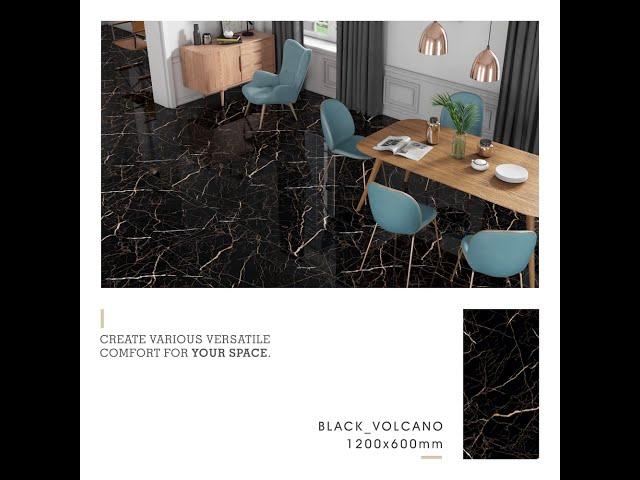 Livolla Granito    GVT & PGVT   Black Volcano   1200x600 MM