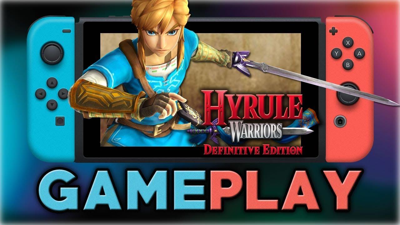 Hyrule Warriors Definitive Edition Zelda Breath Of The Wild Gameplay Nintendo Switch Youtube