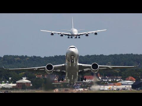 AMAZING Airbus A380 Air Show at Farnborough Air Show   Cargospotter