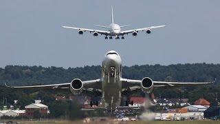 Cover images AMAZING Airbus A380 Air Show at Farnborough Air Show | Cargospotter