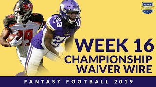 Week 16 Waiver Wire - Fantasy Football 2019 Finals: Mike Boone + Breshad Perriman