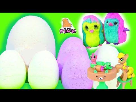 #Surprise Eggs Яйца с Сюрпризом Hatchimals ЗАВТРАК ЭППЛДЖЕК И ЭППЛ БЛУМ! Мультик Май Литл Пони
