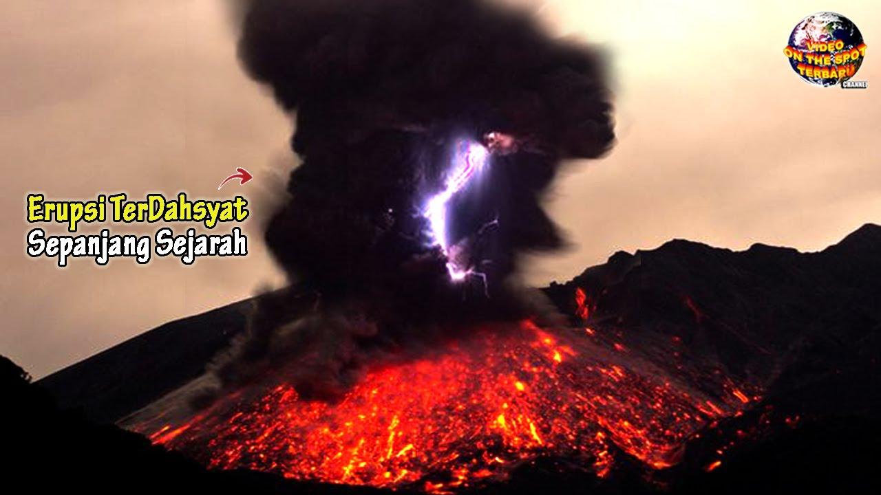 BLOOMM.. Letusan Gunung Muntahkan Lava Vulkanik Panas // Erupsi² Terdahsyat Sepanjang Sejarah