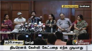 Radhika, Simbu and Bhagyaraj addressing the press regarding Nadigar Sangam Elections spl tamil hot news video 07-10-2015