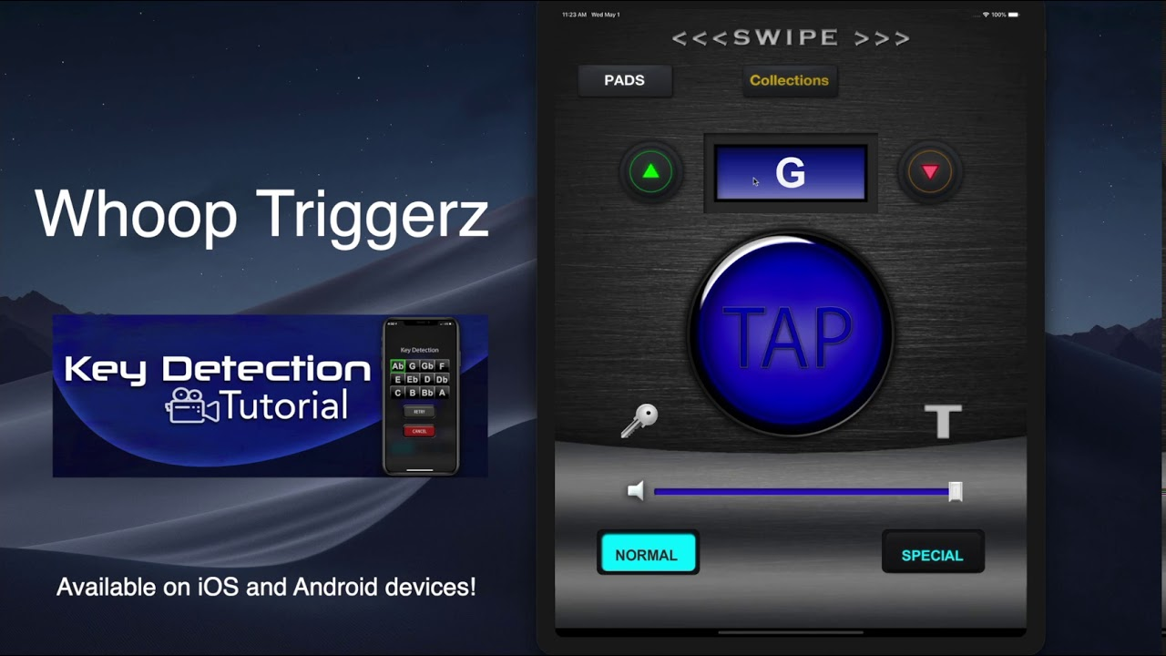 Whoop Triggerz Key Detection!
