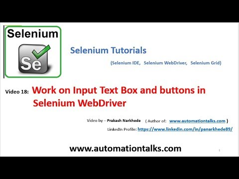 Work on Input Text Box and buttons in Selenium