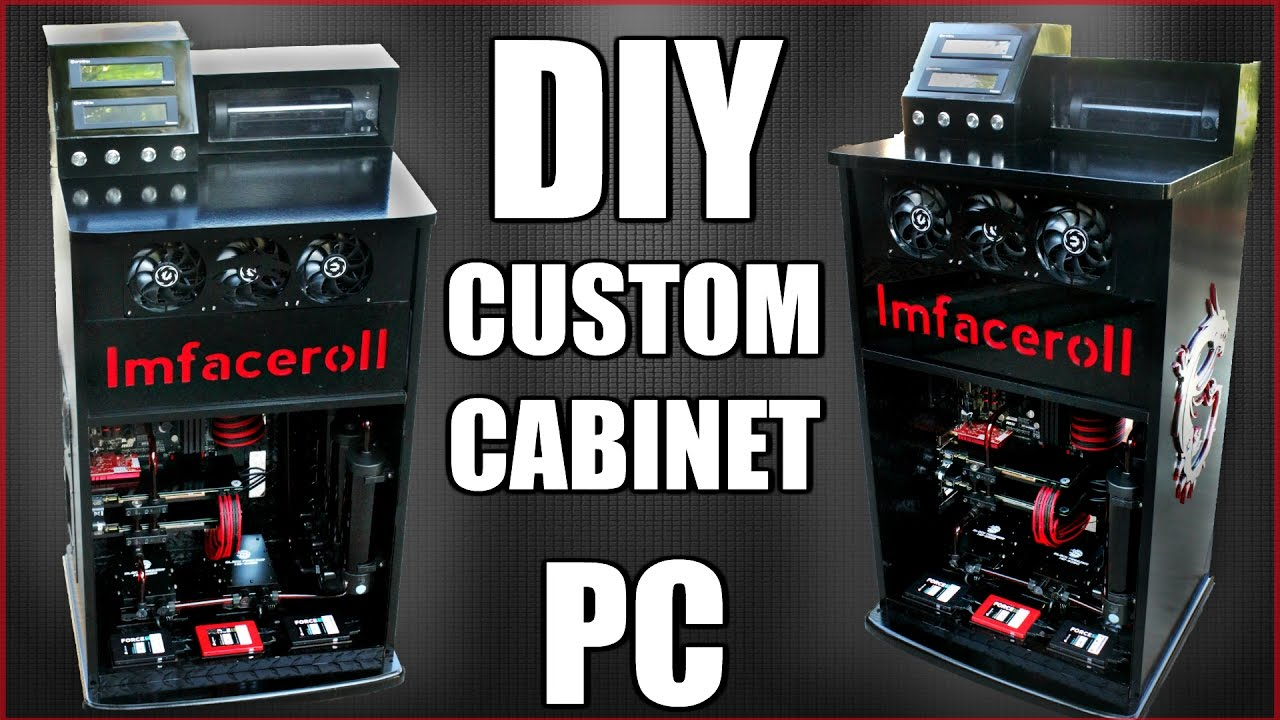 Charmant Ultimate Custom DIY Cabinet Desk PC Build   A Step Back Into The Past