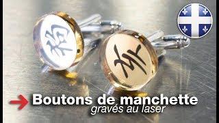 Boutons de manchette gravés au laser | Pinces a cravate gravées au laser | Miroir acrylique