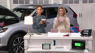 HALO Bolt AC DC Wireless Phone Charger & Car Jump Starter with AC Outlet on QVC