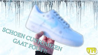 SCHOEN CUSTOMIZEN GAAT FOUT?!! | ICEY AIR FORCE 1 - TA CUSTOMS #VLOG1