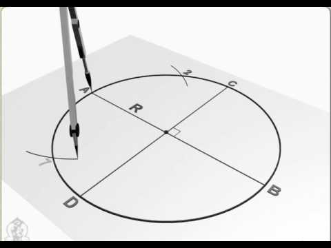Engineering Drawing How To Do Divide Circle In Equal Parts