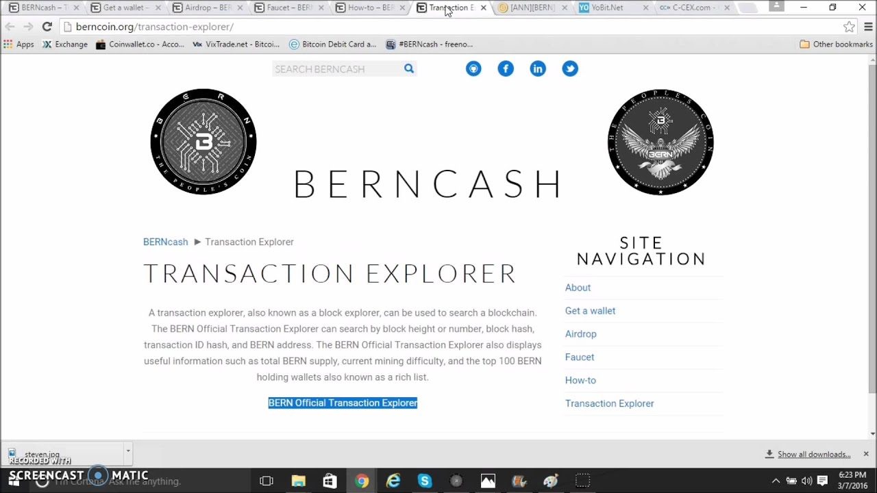 TIGERS ALTCOIN NEWS #2 BERNCASH THE PRESIDENTIAL ELECTIVE CRYPTO
