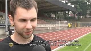 Mikolaj Lebedynski en nieuwe rugsponsor Voetbalshop.nl