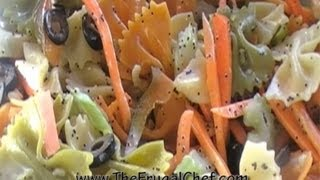How to Make a Tri-Color Pasta Salad w/ Poppy Seed Dressing