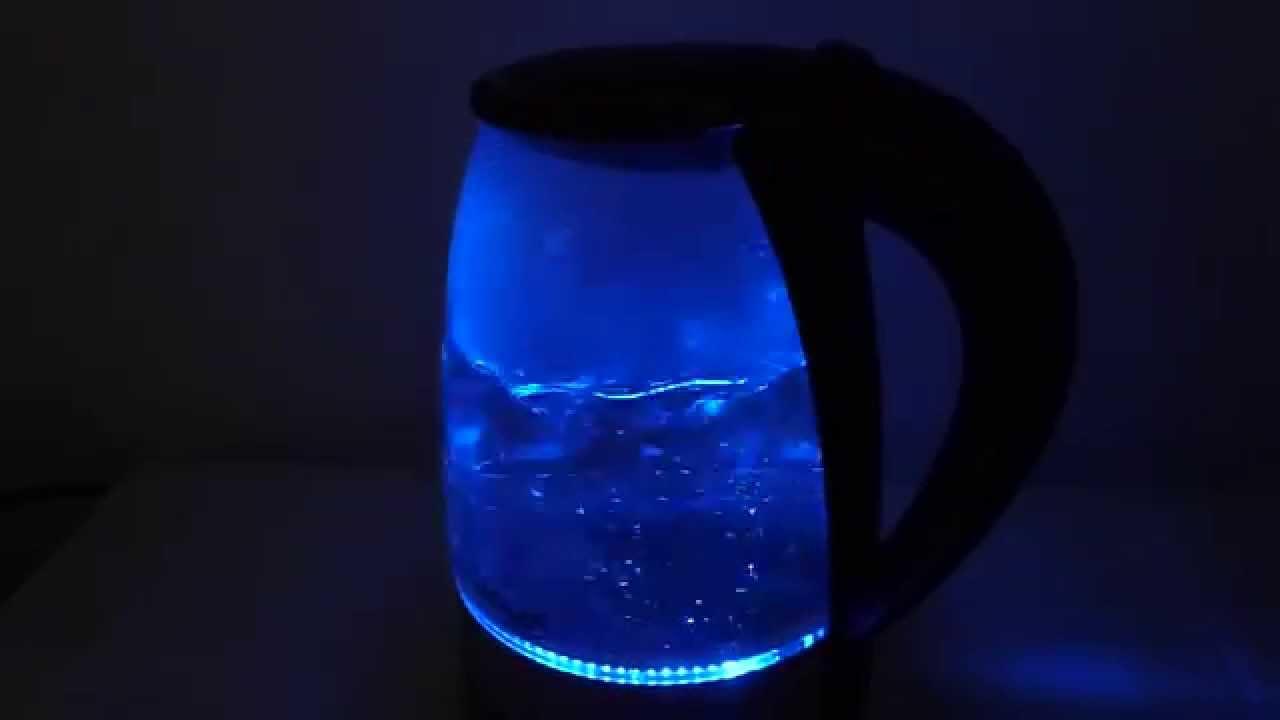 Adler glazen led waterkoker xl youtube for Waterkoker led verlichting