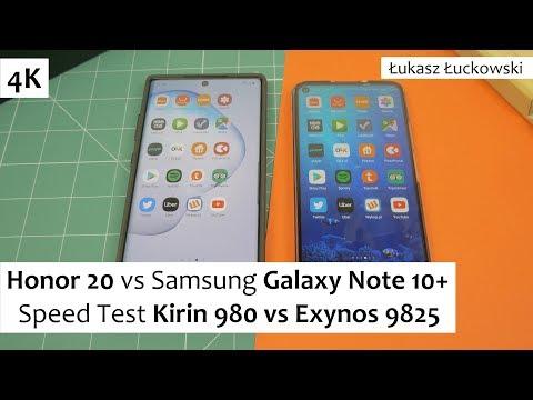Honor 20 Vs Samsung Galaxy Note 10+ ❗❗❗ | Speed Test | Kirin 980 Vs Exynos 9825