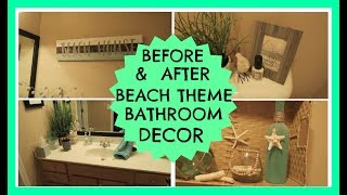 Before & After Beach Theme Bathroom Decor   June 2017