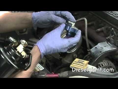 Dodge Ram Cummins >> Dodge Ram Diesel Amsoil Bypass install - YouTube