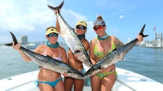 Searching for a GIANT KINGFISH Tournament Fishing with My Girls!