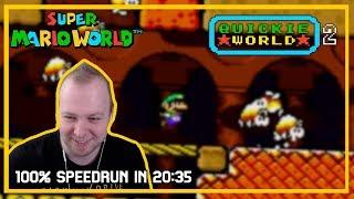 Quickie World 2 - Speedrun in 20:35 [SMW Kaizo]