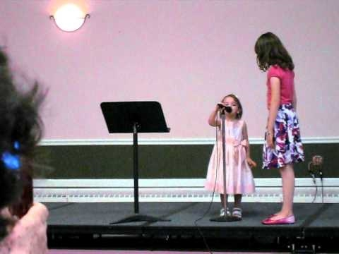 Presidents Song sung by Classical Conversations students (10 and 3 years old).
