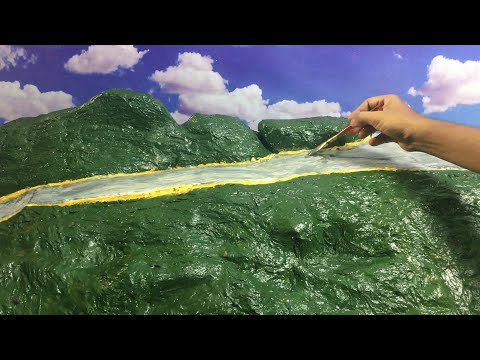 How to make mountain model with paper?  - Miniature Hollywood