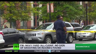 Navy Yard Lockdown: FBI issues 'all clear' after no sign of shooting found