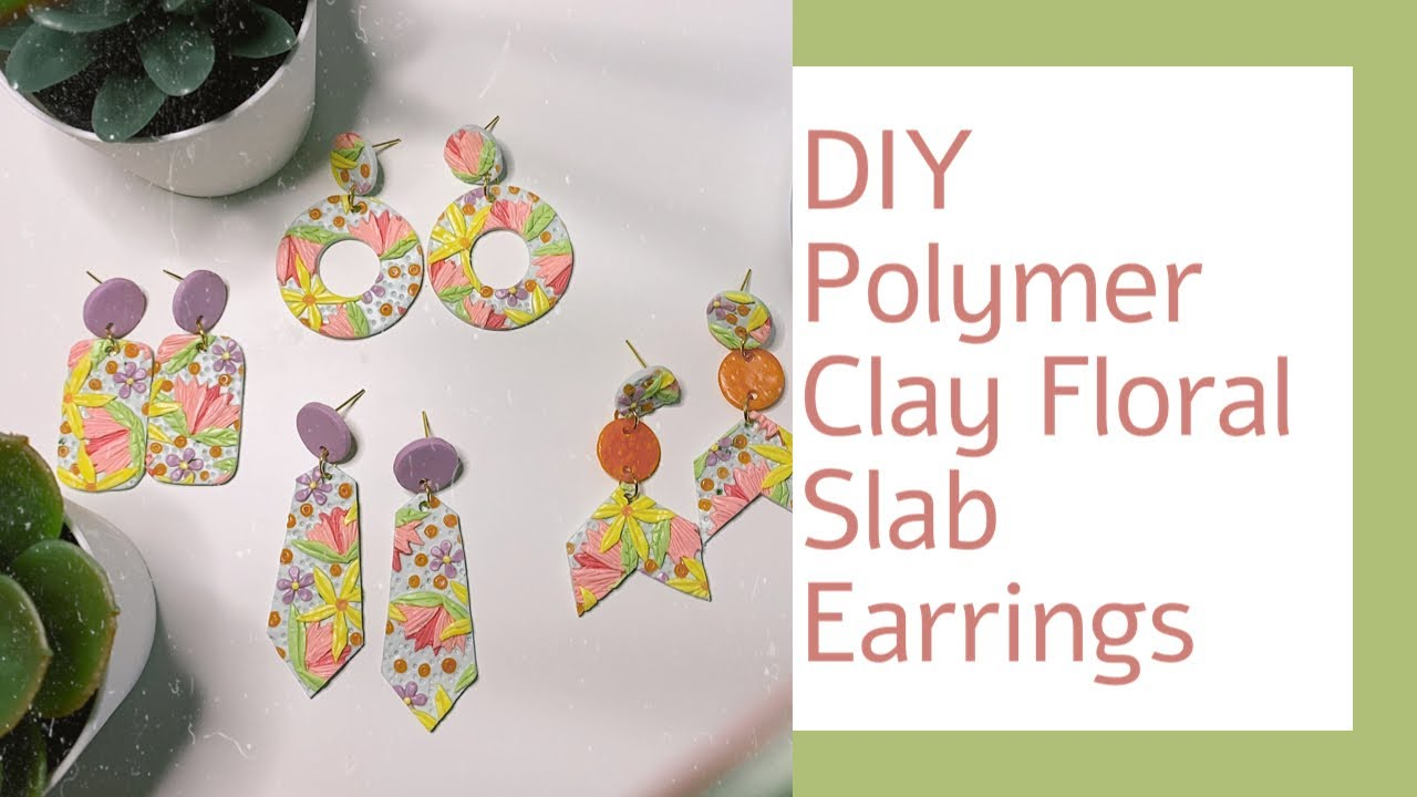 Floral Polymer Clay Earrings