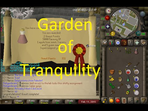 Osrs Quest Garden Of Tranquility Youtube