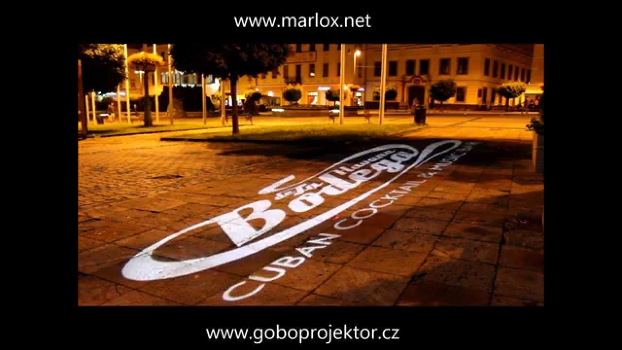 Rotating Logo Projection With Ecolight Led Gobo Projector