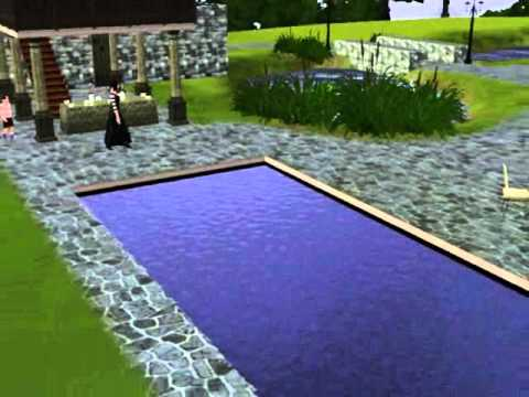 The sims 3 disappearing in swimming pool youtube for Pool design sims 3