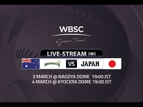 Game 1: Australia vs Japan - International Baseball Series