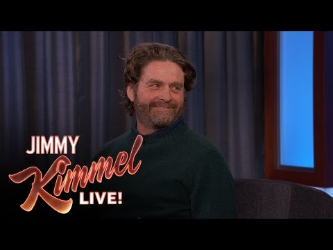 Zach Galifianakis Makes Fun of Jimmy Kimmel
