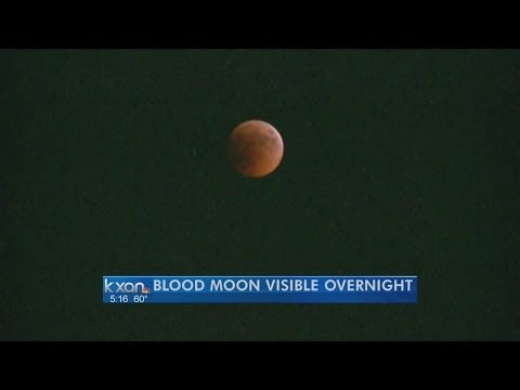 Total Lunar Eclipse Visible Tonight In Texas