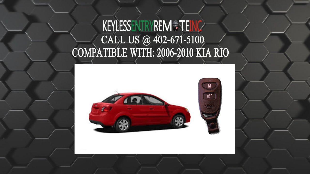 hight resolution of how to replace kia rio key fob battery 2006 2007 2008 2009 2010