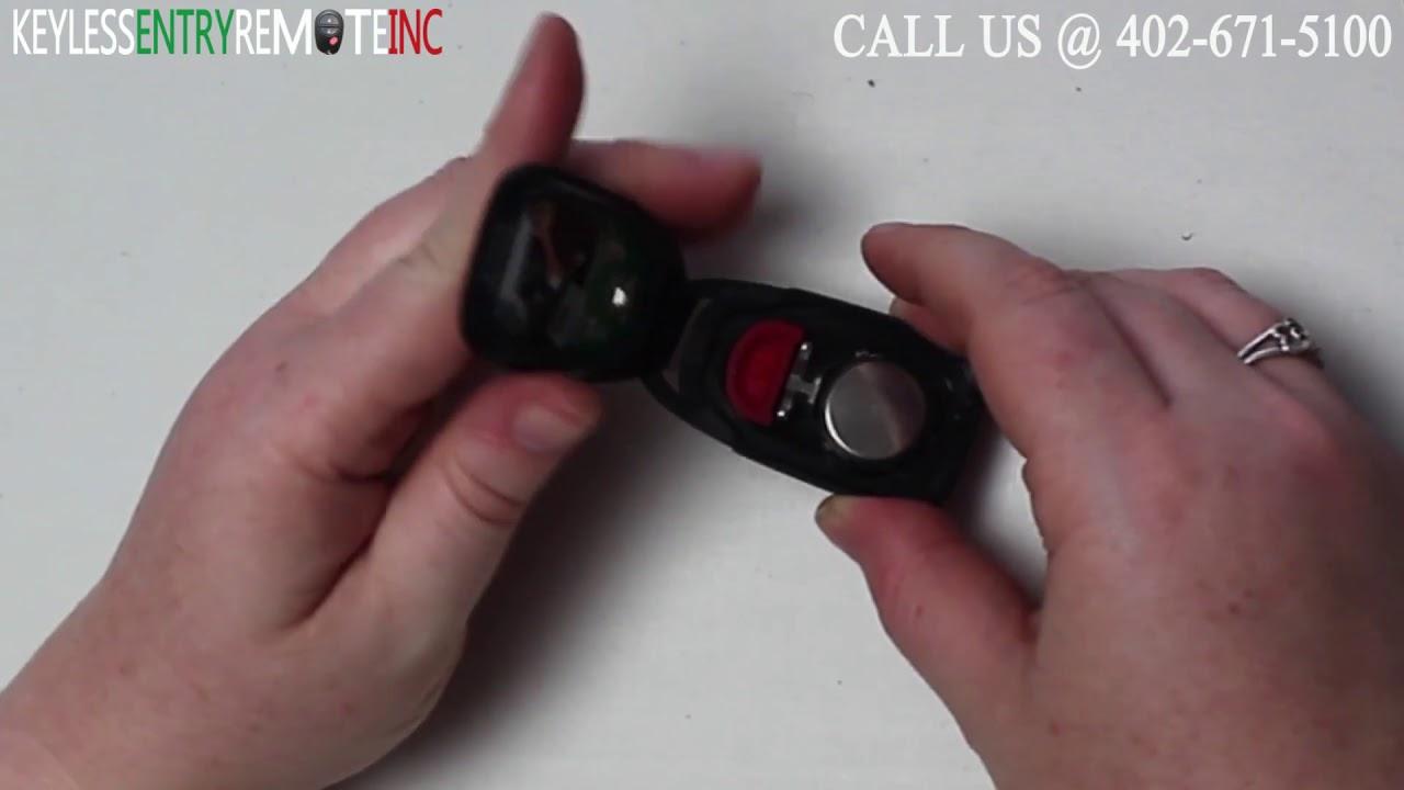 How To Replace Kia Rio Key Fob Battery 2006 2007 2008 2009 2010