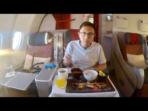 KECEWA MAKANANNYA | BUSINESS CLASS GARUDA INDONESIA BALI TO OSAKA A330-300